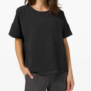 NWT Lululemon Shift In Time Black Top Relaxed Fit